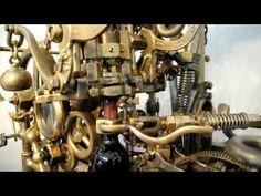Wine corkscrew a la Rube Goldberg