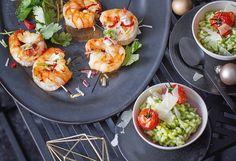 Salatrisotto mit frittierten Cherrytomaten Risotto, Shrimp, Eggs, Breakfast, Food, Deep Frying, Food Portions, Easy Meals, Recipies