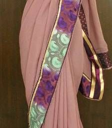 ENGLISH WINE PURE GEORGETTE SAREE georgette-saree @ www.mirraw.com
