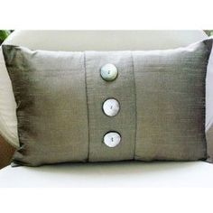Silk N Pearls - Throw Pillow Covers - Rectangle Silk Pillow Cover with Mother Of Pearl :     Price: $28.18    .        Silk N Pearls - Decorative Throw Pillow Cover. This pillow cover is made using Silk fabric, hand embroidered with Mother Of Pearl Buttons. Materials Used - Silk, Mother Of Pearls. The color of the pillow cover is Grey -Silver. The back of the pillow is the same Grey - Silv...Check Price >> http://gethotprice.com/appin/?t=B0043NKHEO