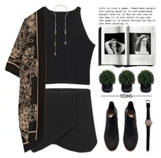 """""""i'm at home in the clouds"""" by alienbabs ❤ liked on Polyvore featuring Anna Sui, Lux-Art Silks, H&M, clean, organized and yoins"""