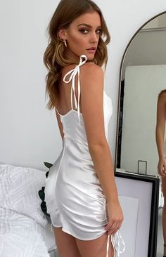 Tight Dresses, Satin Dresses, Sexy Dresses, Cute Dresses, Short Dresses, Sexy Outfits, Cute Outfits, Fashion Outfits, Textiles Y Moda