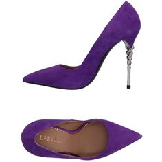 Le Silla Court (€200) ❤ liked on Polyvore featuring shoes, pumps, purple, purple leather pumps, animal shoes, leather shoes, real leather shoes and leather sole shoes