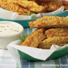 Fried Dill Pickles  3 eggs  1 c. milk  1 c. Italian-seasoned dry bread crumbs  1/4 c. all-purpose flour  15 dill pickle spears, well drained  oil for deep frying  Garnish: ranch or Thousand Island salad dressing