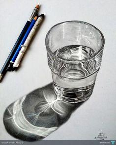 Real Pencil Drawing Water Pencil Drawing Of Water Glass Of Water Realistic Pencil Drawing