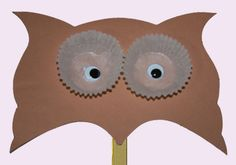 Puppet Owl Preschool Art Project Maybe could do this with egg cartons instead...
