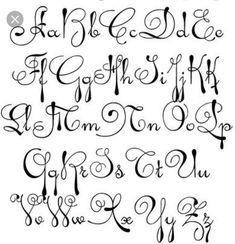 New Tattoo Fonts Cursive Pretty Tat 43 Ideas Tattoo Lettering Fonts, Hand Lettering Alphabet, Lettering Styles, Graffiti Lettering, Calligraphy Letters, Lettering Design, Block Lettering, Alphabet A, Tattoo Fonts Alphabet