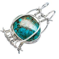 Ana Silver Co Tibetan Turquoise 925 Sterling Silver Pendant 1 3/4' * Check out this great product. (This is an affiliate link) #PendantsandCoins