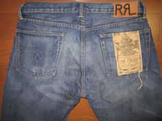 RALPH LAUREN RRL DOUBLE RL SELVEDGE DENIM TUSCON JEAN