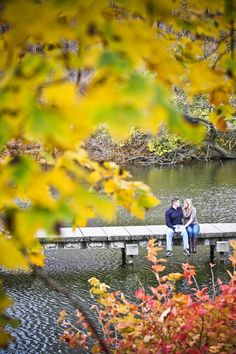 Lovely fall engagement photo by http://elizabethgreve.com - I like this, but don't know where we would do it