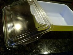 Banana Yellow Pyrex Casserole Baking Dish with by maggiecastillo, $14.00