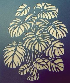Embroidery Paper Monstera for embroidery or applique Printable Stencil Patterns, Stencil Templates, Stencil Designs, Free Stencils, Stencil Painting, Fabric Painting, Faux Painting, Diy And Crafts, Arts And Crafts