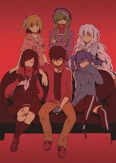 "Momo Kisaragi// Kido Tsubomi// Marry Kozakura// Ayano Tateyama// Shintaro Kisaragi// Takane ""Ene"" Enomoto"