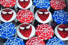 Spiderman cupcakes for MY Lil Man that I LOVE sooo much!