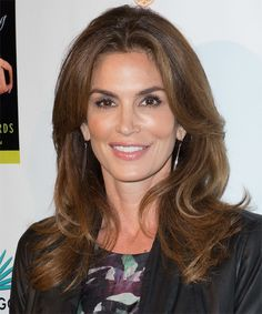 Cindy Crawford Hairstyle - Casual Long Straight. Click on the image to try on this hairstyle and view styling steps!