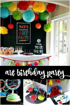 Get Creative With A Boys Birthday Party Idea Like This Picasso Inspired Art Themed Designed And Styled By Mom Planner Misha