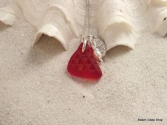 Valentine's Day Sea Glass Necklace!!