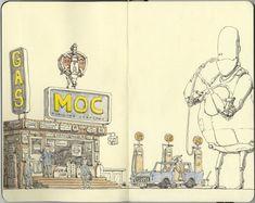robot-eating-gas-character-illustration-sketchbook