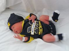 James Ross Weir, already donning the Maize and Blue one day after his birth!