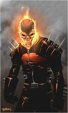 """imthenic: """" Ghost Rider by Gabriel Sandoval """" Marvel Comic Character, Comic Book Characters, Comic Book Heroes, Marvel Characters, Comic Books Art, Comic Art, Hq Marvel, Marvel Comics Art, Marvel Heroes"""