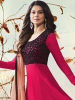Stylish Black And Pink Anarkali Suit Anarkali Suits, Aurora Sleeping Beauty, Princess, Formal Dresses, Stylish, Pink, Black, Fashion, Arabic Dress