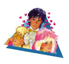 """""""Gold & Glitter"""" love triangle from """"Jem And The Holograms"""" series. Best 80s Cartoons, Retro Cartoons, Jem Cartoon, 80 Tv Shows, Jem And The Holograms, Cartoon Tv Shows, 80s Kids, Sugar Art, Nerd Geek"""