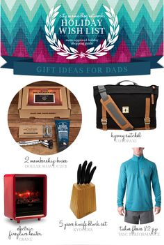 Holiday Gift Guide for Dads & Giveaway #CMBNWishList2014 | City Moms Blog Network