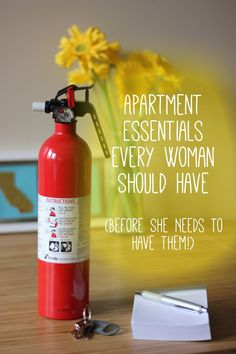 Do you have everything you need in case of an emergency?  Be prepared instead of being sorry & grab what you need on your next Target run or put it on in your Amazon cart now! Apartment Needs, 1st Apartment, Dream Apartment, Studio Apartment, Apartment Living, Apartment Design, Single Girl Apartment, New Apartment Gift, Apartment Checklist