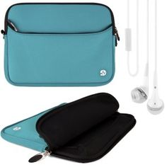 VG Brand Lushly Neoprene Zipper Sleeve Cover for Samsung Galaxy Tab 3 10.1-inch Bundle