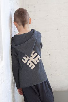 Boy clothes Toddler Knit Hoodie sweater Monogram by MarumaKids