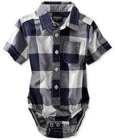 Osh Kosh Baby Boys Buffalo Check Woven Bodysuit - Kids Baby Boy (0-24 months) - Macys