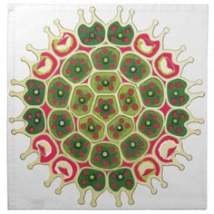 Festive Pattern Cloth Napkins #christmas #science