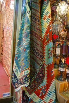 World Bazaar, Istanbul, Turkey ~ Kilim Rugs! I want them all!