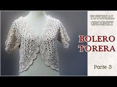 Bolero o Torera tejida a crochet, Tutorial paso a paso (3 de 3)