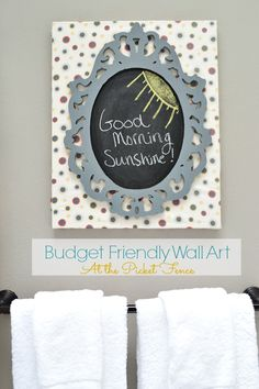 Budget Friendly Wall Art at www.atthepicketfence.com