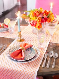 Spring Table Decorations & Settings >> http://www.hgtv.com/design/make-and-celebrate/entertaining/spring-table-setting-ideas-pictures?soc=pinterest