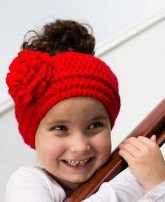 Lady In Red ~ Headband Crochet Pattern - Hopeful Honey All Free Crochet, Love Crochet, Crochet For Kids, Crochet Flowers, Crochet Baby, Crochet Unicorn, Crochet Doilies, Crochet Crafts, Crochet Projects