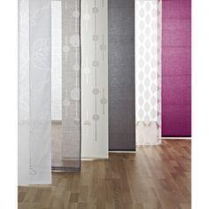 Pour dressing, a la place des rideaux...Panneau japonais dévoré feuilles, blanc, 50X260cm | Leroy Merlin
