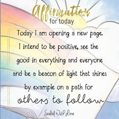 Today I am opening a new page, are you? Positive Affirmations Quotes, Morning Affirmations, Affirmation Quotes, Positive Quotes, Motivational Quotes, Inspirational Quotes, Positive Mindset, Positive Thoughts, Positive Vibes