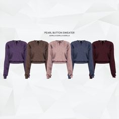 Pearl Button Sweater for The Sims 4
