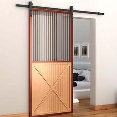6.6 Ft Sliding Barn Doors Tracking Kit Hardware Set Metal Wood Door Track Sturdy #HomCom