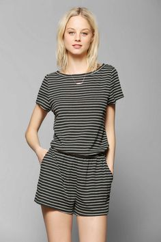 BDG Knit Stripe Romper - Urban Outfitters