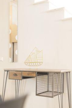 industrial decoration, minimal design, beach house decor, sleek design, work from home, desk for digital nomads in Greece Beach House Decor, Home Decor, Minimal Design, Minimalism, Greece, Industrial, Gems, Digital, Decoration
