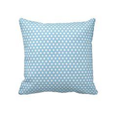 blue polkadot throw pillow #zazzle #throwpillows #pillows