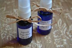 How to make homemade body spray (using essential oils).  This is great for folks with chemical sensitivity!