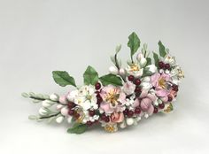 Headpiece Wedding, Bridal Headpieces, Wedding Bride, Bridal Hair Accessories, Blossoms, Floral, Flowers, Jewelry, Bridal Flowers