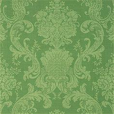 Emerald Green Damask wallcovering. Thibaut Damask Resource V 1