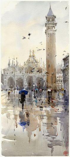 Igor Sava - Venice #watercolor jd: #watercolorarts