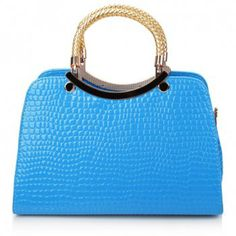 New Arrival Crocodile Print and Candy Color Design Tote Bag For Women, SKY BLUE in Tote Bags | DressLily.com