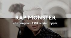 My love oppa Rap Monster, Namjoon, Rapper